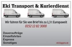 Wir suchen tägliche Transportaufträge 3,5 t