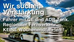 Mehrere Fahrer CE, ADR 9 Tank in Festanstellung gesucht