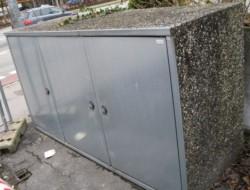 Beton Mülltonnen-Box 850 Kg L233xB80xH125 cm