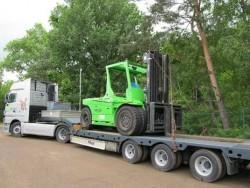 Transport von Maschinen und Geräten