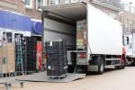 LKW bei der Warenanlieferung fr ein Geschft