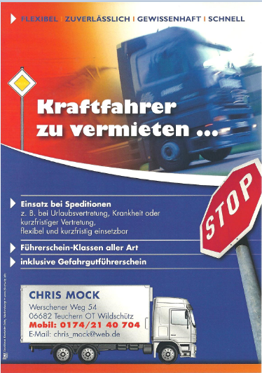 Fahrdienst Chris Mock
