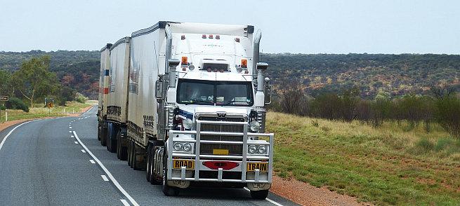 Truck mit hohem Kraftstoffverbrauch