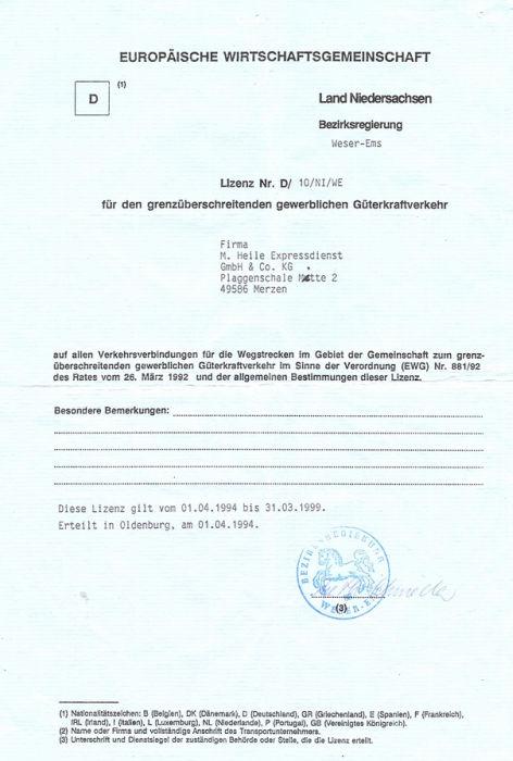 eu lizenz Güterkraftverkehr, EU lizenz beantragen, EU Lizenz Voraussetzungen